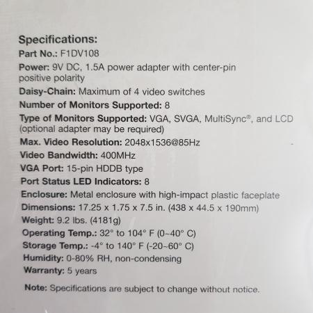 Image 3 of Brand New 8-Port Video Splitter