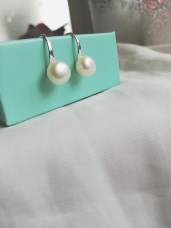 Image 3 of Natural Freshwater Pearl Earrings for Women, Girls. White