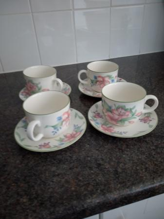 Image 1 of Royal Doulton set of 4 cups and saucers