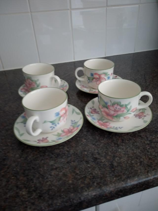 Preview of the first image of Royal Doulton set of 4 cups and saucers.