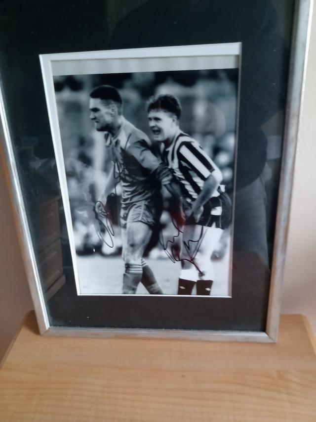 Preview of the first image of VINNY JONES/ PAUL GASSA SIGNED PHOTO. PICK UP ONLY..