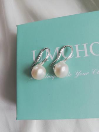 Image 1 of Natural Freshwater Pearl Earrings for Women, Girls. White