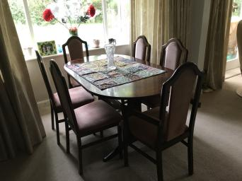 Dining Table 6 Chairs And Matching Display Cabinet