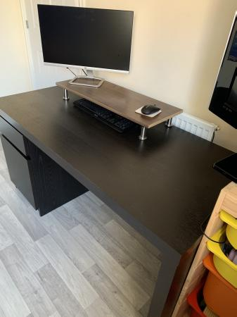 Image 1 of IKEA Black Desk