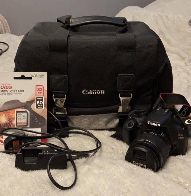 Preview of the first image of Canon 1200d camera bundle.