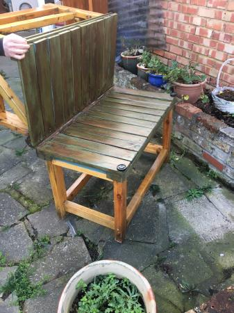 Image 6 of Garden table and bench combo