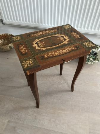 Image 1 of Wooden sewing box
