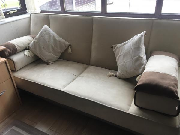 Image 2 of Bed Settee     For Sale Faux Suede