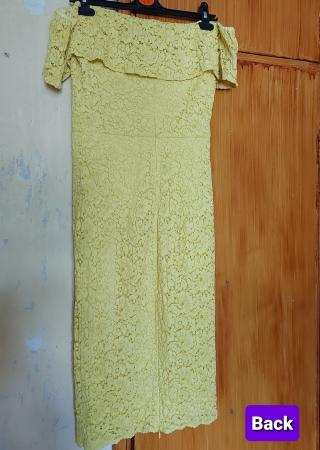 Image 3 of Yellow Floral Lace Midi Dress - Brand New