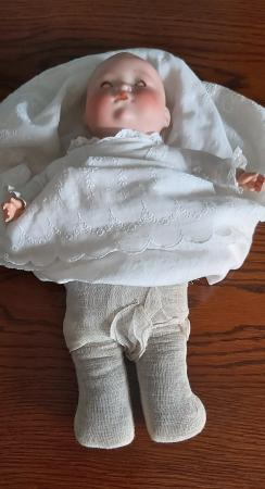 Image 3 of Antique bisque headed doll.