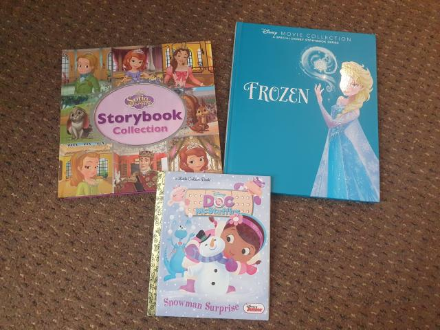 Preview of the first image of 7 Disney story books.
