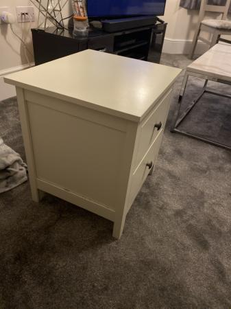 Image 3 of Sturdy cream bedside table