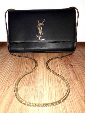 e6994b351c4 Selling My Stunning Auth Black & Gold Yves Saint Laurent Handbag Which Is  Medium In Size. This Is A Beaut, & Can Be Used For All Occasions.