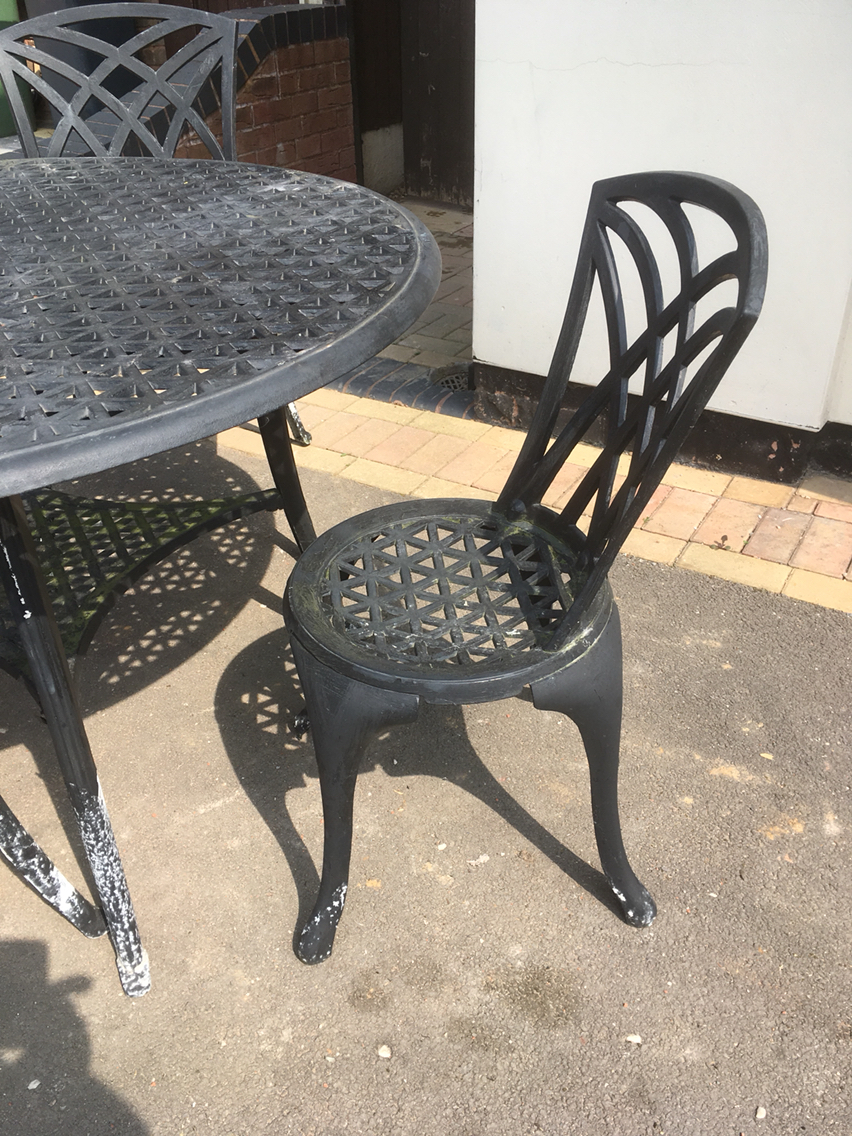 Garden Furniture......wrought Iron Table And 3 Chairs