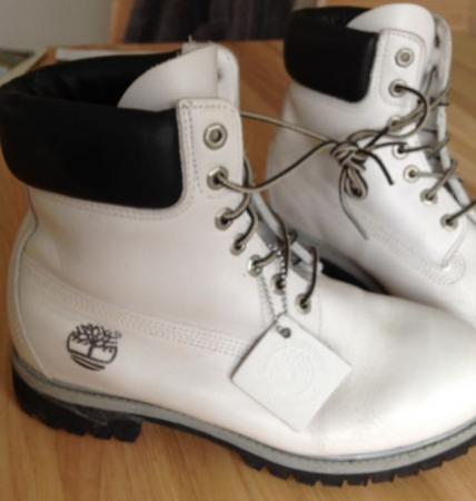 0d22e41cd171d WHITE LEATHER TIMBERLAND BOOTS SIZE 8 For Sale in Melksham ...