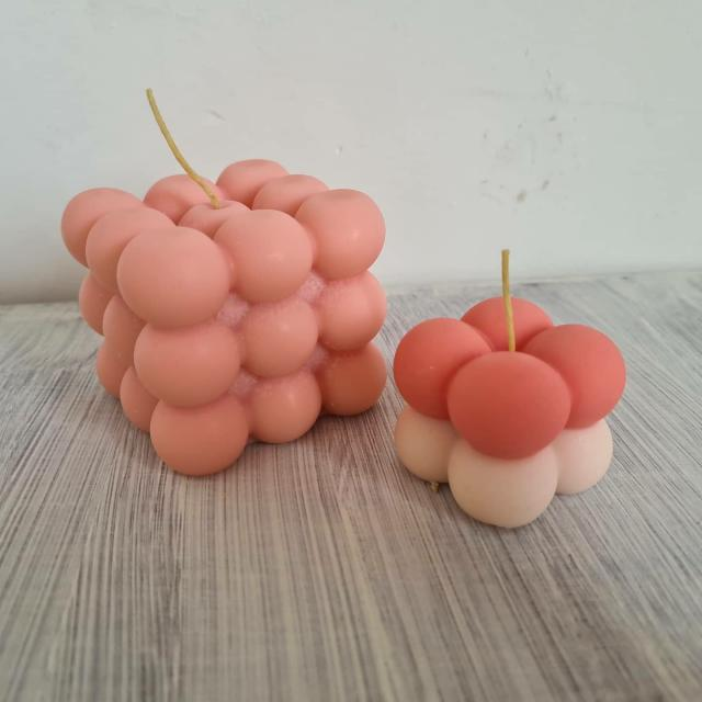 Preview of the first image of Handmade Mix & Match Bubble Candles.