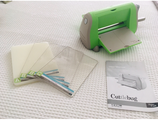 Preview of the first image of Cuttlebug with plates and instructions.