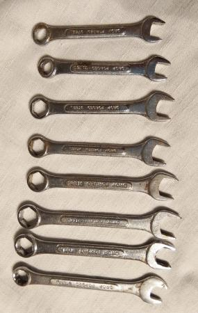 Image 1 of drop forged steel spanners x 8