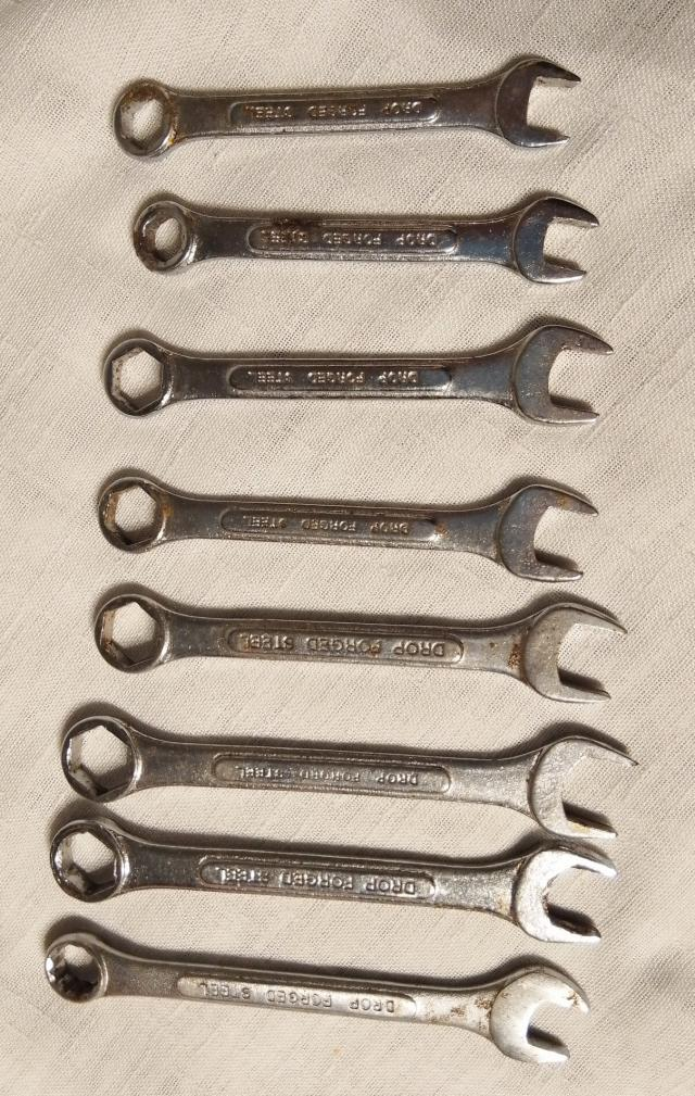 Preview of the first image of drop forged steel spanners x 8.