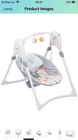 Image 1 of Graco space saver swing