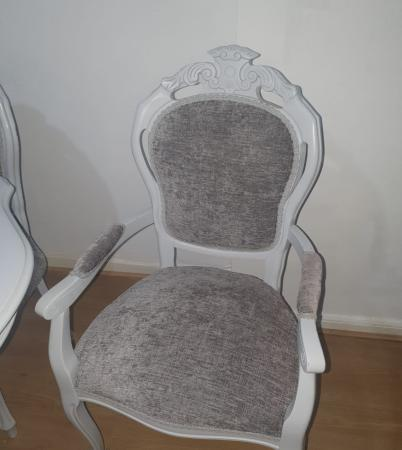 Image 2 of Shabby Chic French Dining Table & 6 Chairs
