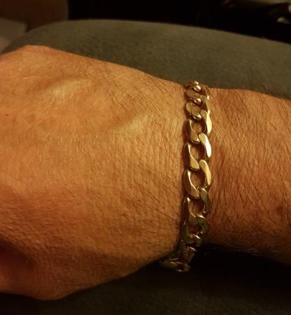 Image 1 of 9ct Gold Curb Bracelet