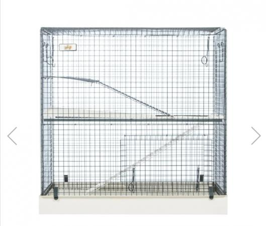 Image 3 of Large 2 tier animal cage