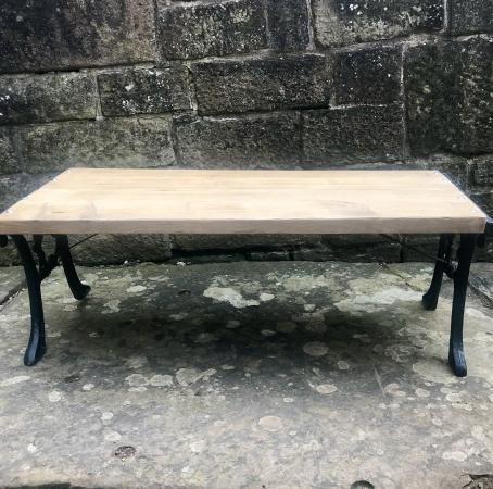 Image 2 of HANDMADE GARDEN RUSTIC BENCH/COFFEE TABLE