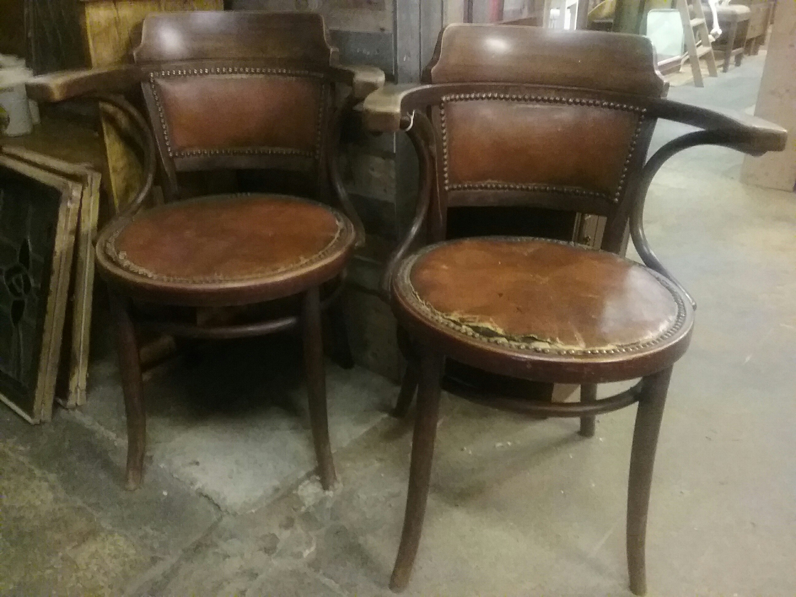 antique thonet chairs for sale. vintage captain thonet bentwood \u0026leather chair. 2 available antique chairs for sale