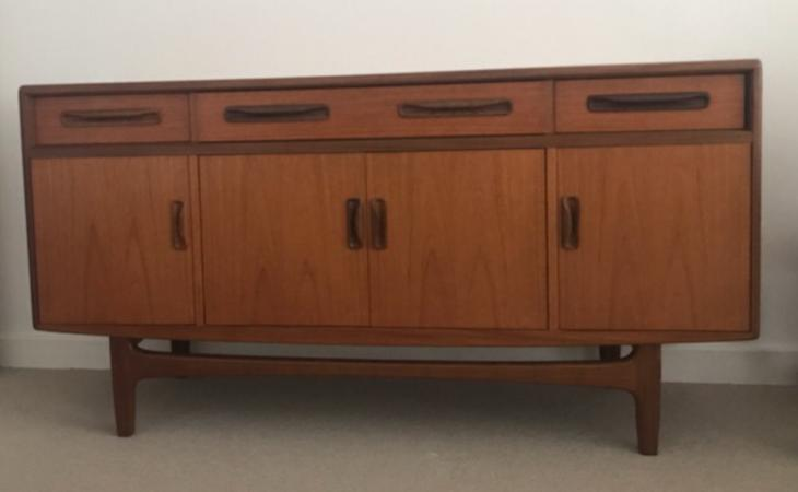 Image 1 of G Plan Fresco sideboard with four doors & four drawers.