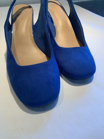 Image 2 of New M&S size 6 cobalt blue sling backs