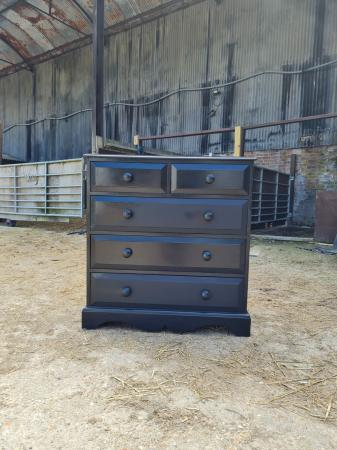 Image 3 of Black 2 over 3 Chest of Drawers