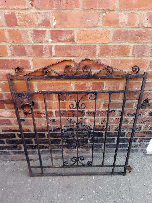 Preview of the first image of cast iron gate with hinges.