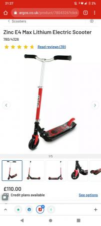 Image 1 of Children's electric scooter