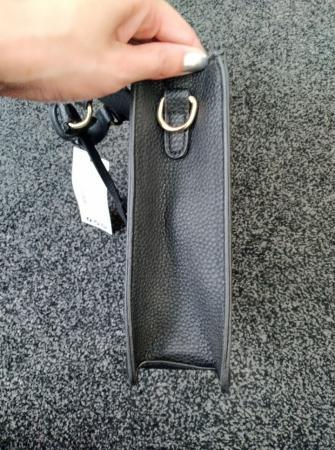Image 3 of Black pu lock and tab bag
