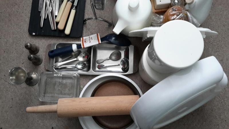 Image 3 of Job lot kitchenware and tableware, cutlery, etc