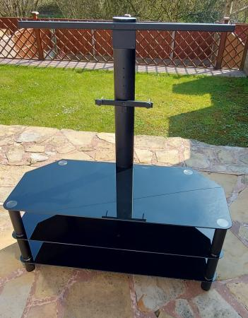 Image 2 of 50 inch black TV stand with mounting bracket