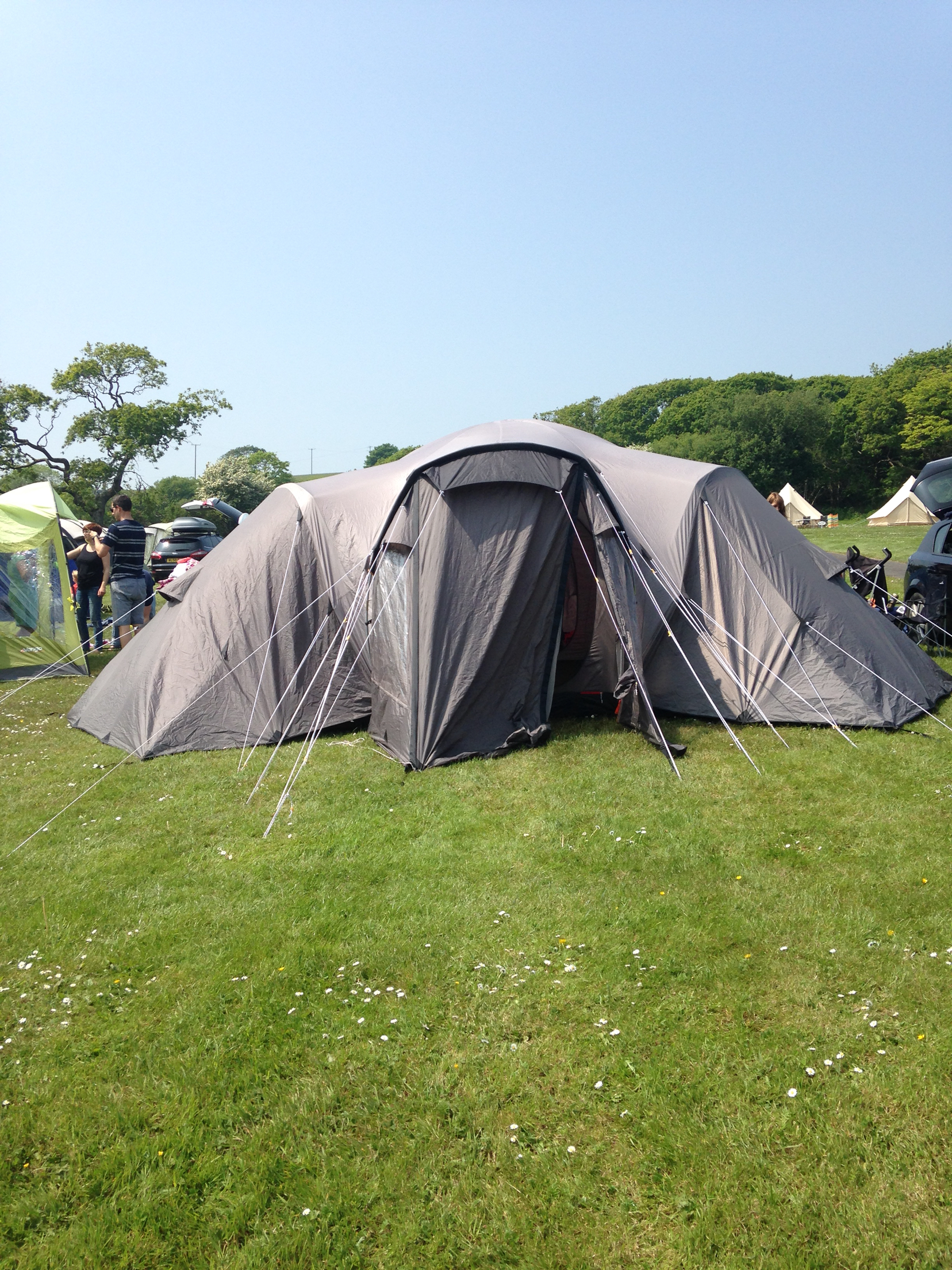 ... tent big space in middle standing height and 3 3man sleeping pods no rips or holes or leaks comes with storage bag  ground pegs poles Built in ground ... & 3 pod tents - Local Classifieds Buy and Sell in the UK and ...