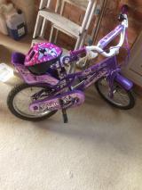 Girls bike and helmet - £50