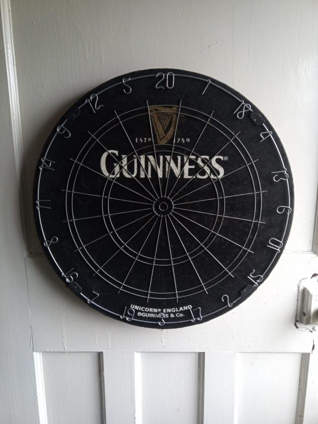 Preview of the first image of Rare Guinness Dart Board.