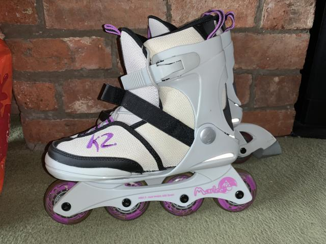 Preview of the first image of K2 Marlee Girls Adjustable Size Inline Skates.