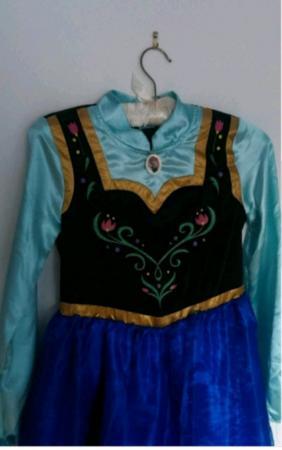 Image 2 of Anna dress Frozen costume 9-10years like NEW
