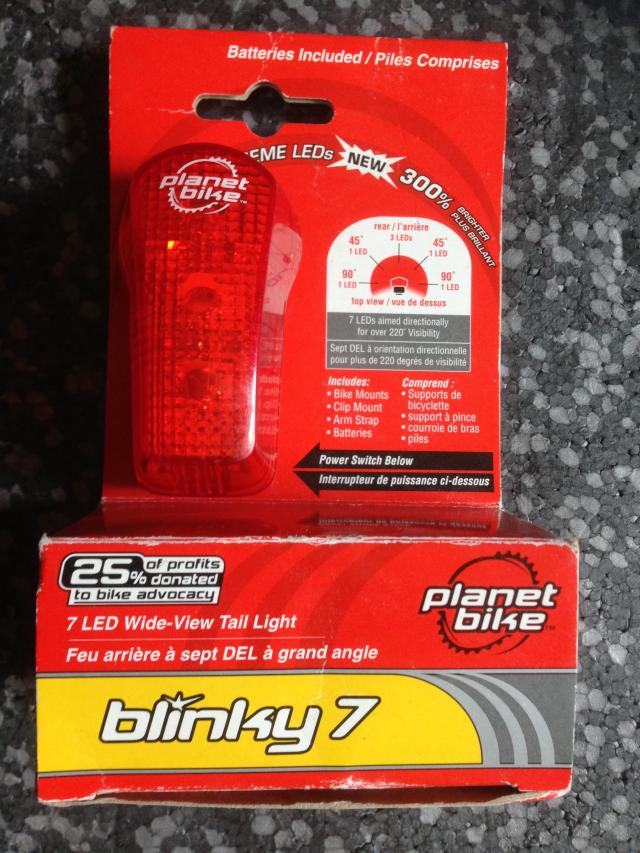 Preview of the first image of Planet Bike Blinky 7 Multi Function Rear Light.