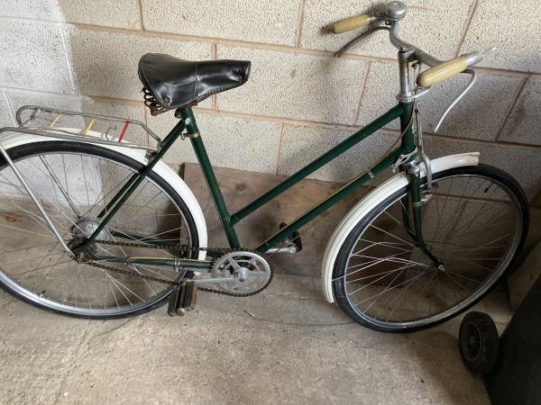 Image 1 of Vintage English classic ladies bicycle By Triumph REDUCED