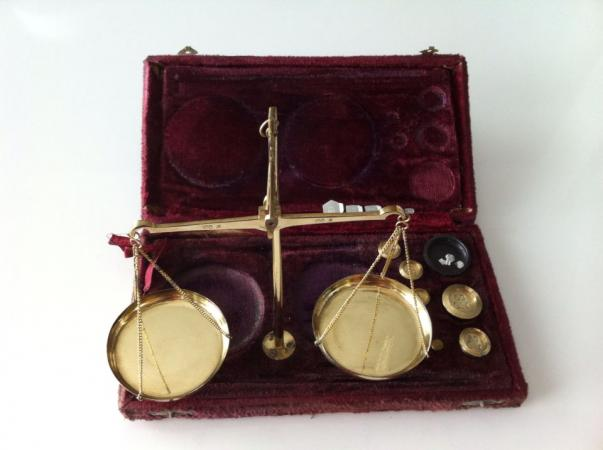 Antique brass weighing scales For Sale in Barnsley, South ...