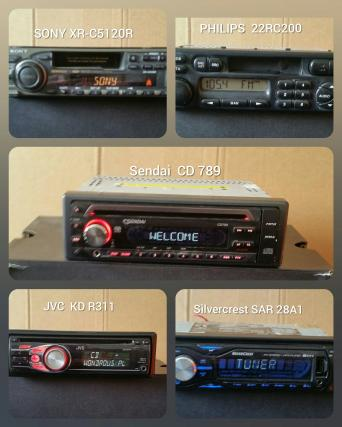 assorted working radios and cd changers