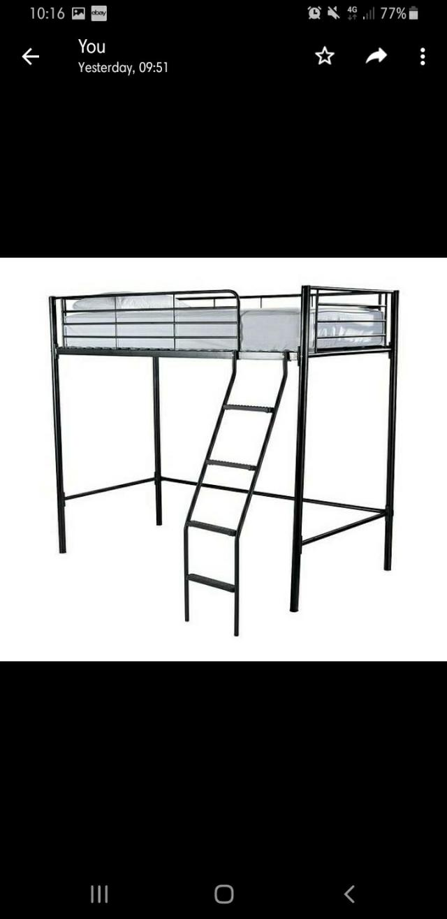 Preview of the first image of high sleeper single bed frame.