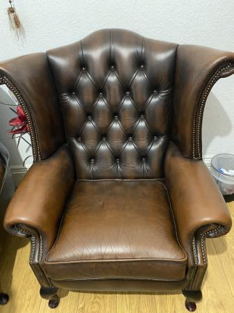 Image 3 of Queen Anne chesterfield Armchair
