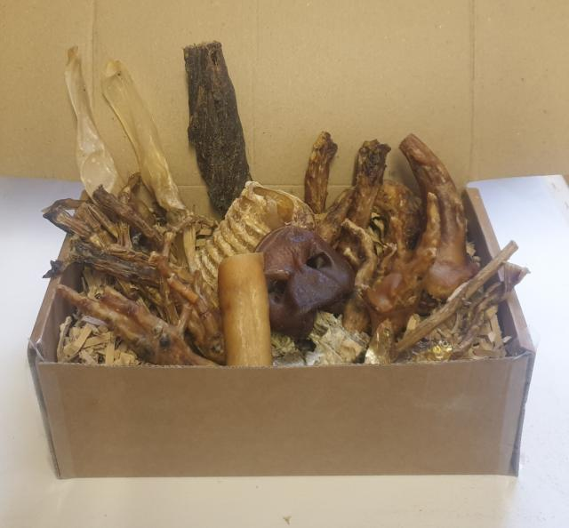 Preview of the first image of 100% Natural Dog Treat Box/Hamper.
