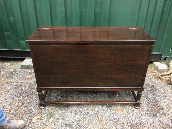 Image 1 of retro oak storage blanket box project upcycle